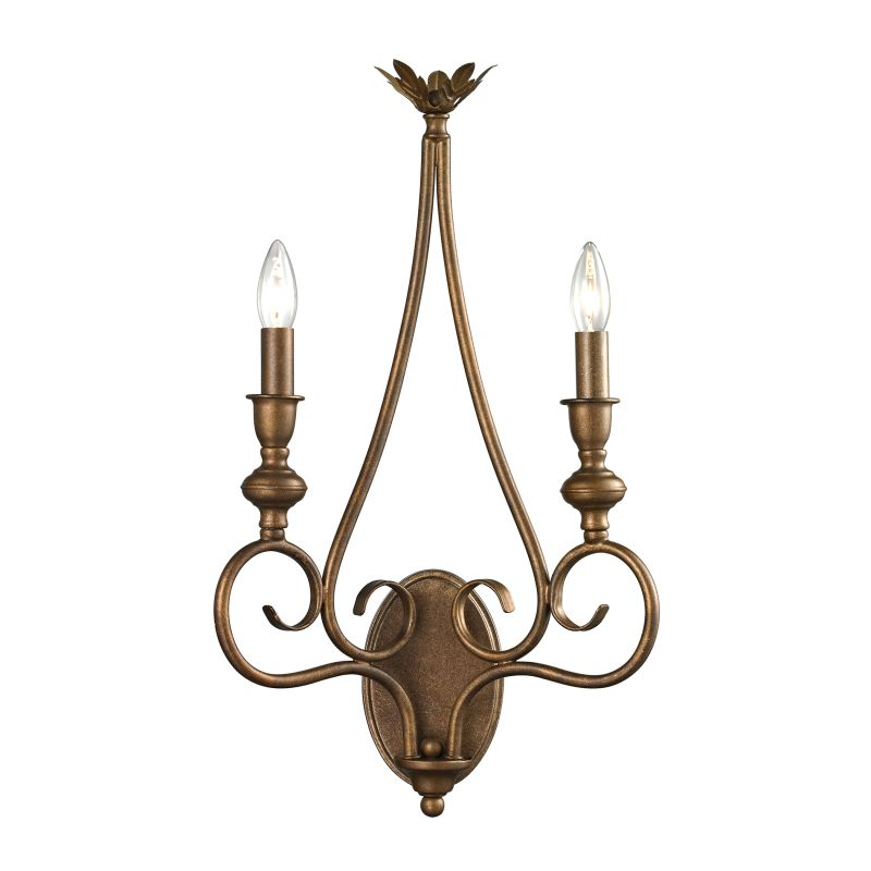 Elk Lighting Online: Elk Lighting 31390/2 Mocha Hamilton 2 Light Wall Sconce