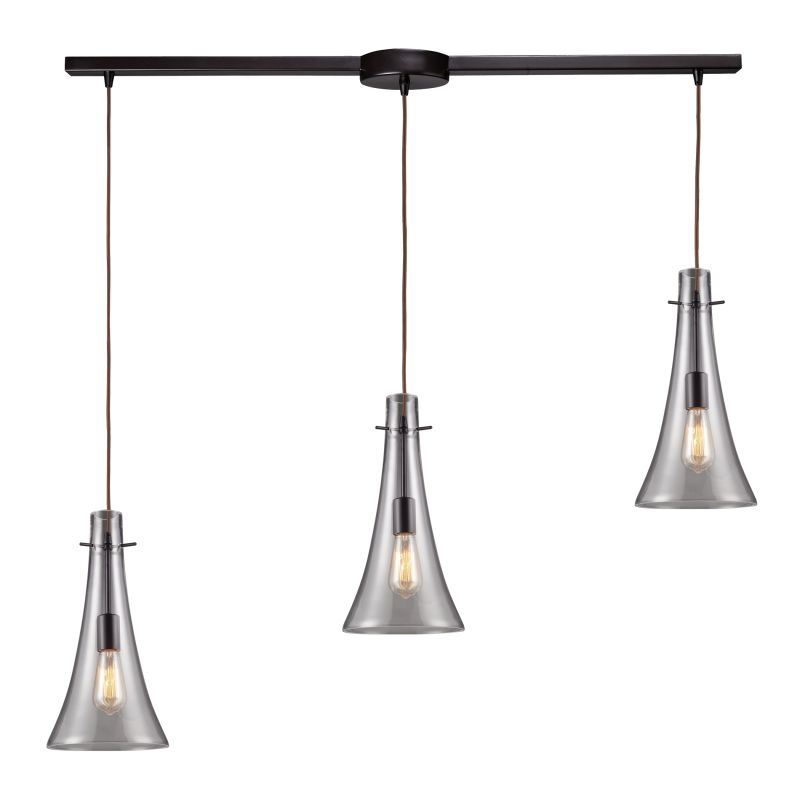 Elk Lighting 60045 3L Oiled Bronze Menlow Park Three Light Kitchen Island Fix