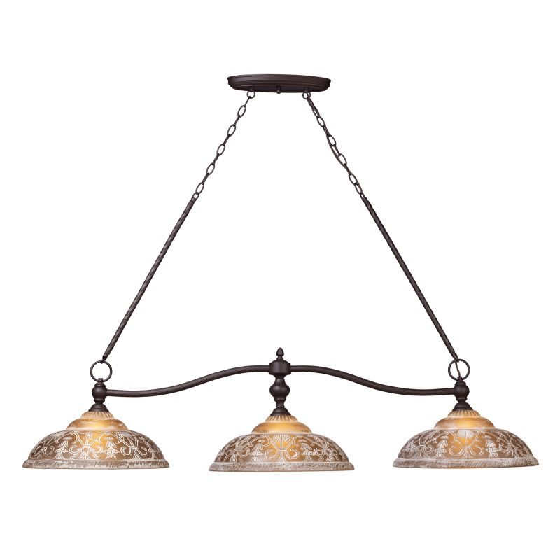 Elk Lighting 66195-3 Oiled Bronze Norwich Three-Light