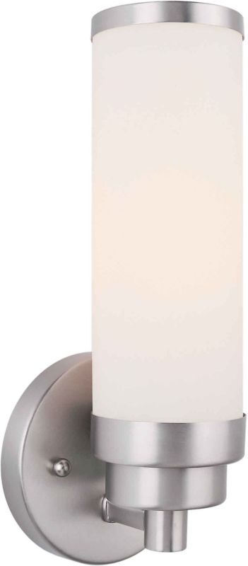 Forte Lighting 5064-01-55 Brushed Nickel Up Lighting Wall Sconce - LightingDirect.com