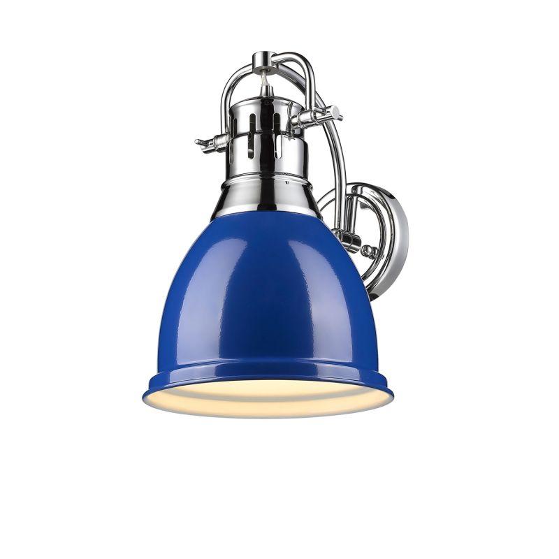 Golden Lighting 3602 1W CH BE Chrome Blue Duncan 1 Light