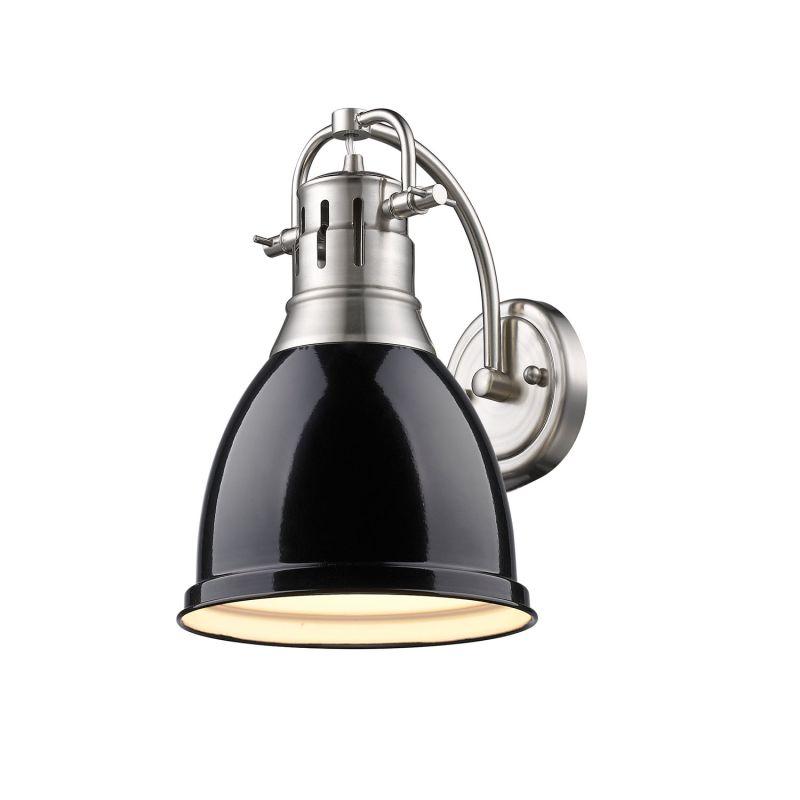 Golden Lighting 3602 1W PW BK Pewter Black Duncan 1