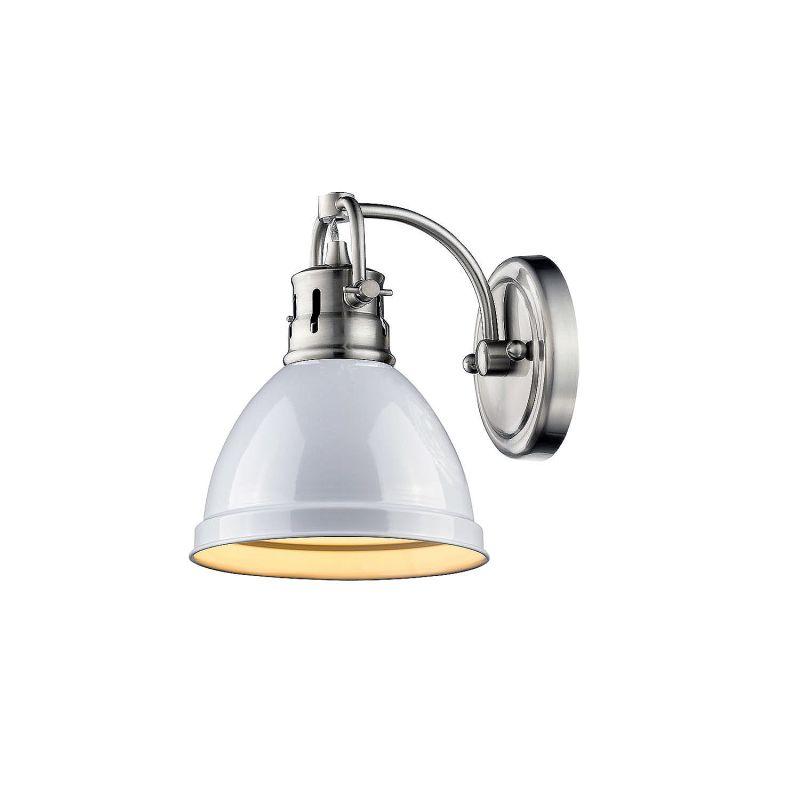 Golden Lighting 3602 BA1 PW WH White Duncan 1 Light