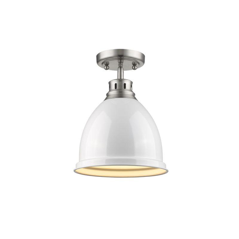 Golden Lighting 3602 FM PW WH White Duncan 1 Light Semi
