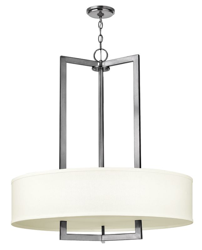 Hinkley Drum Lighting: Hinkley Lighting 3206AN Antique Nickel Hampton 3 Light 1