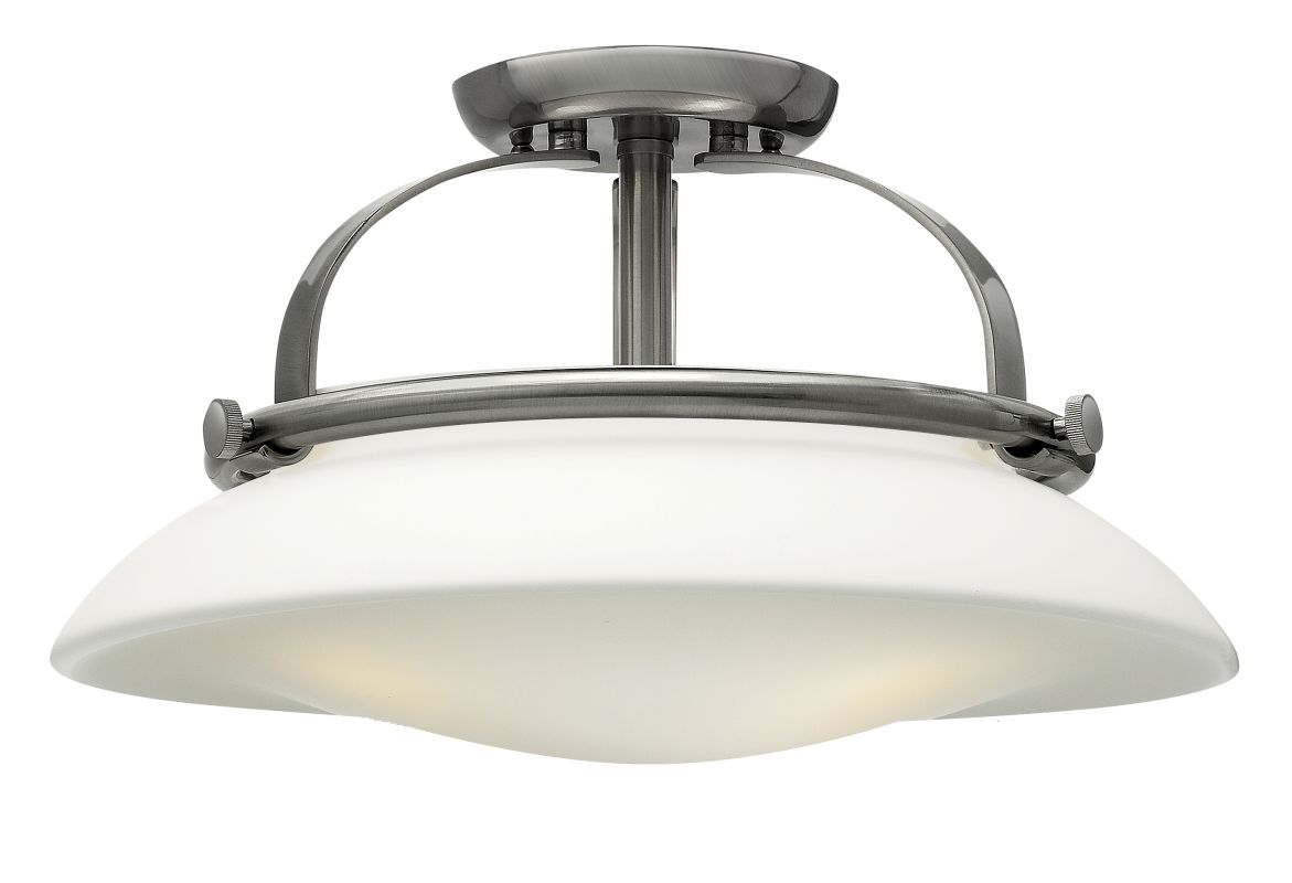 Progress Lighting Rizu Collection 3 Light Brushed Nickel: Hinkley Lighting 3321BN Brushed Nickel 3 Light Indoor Semi