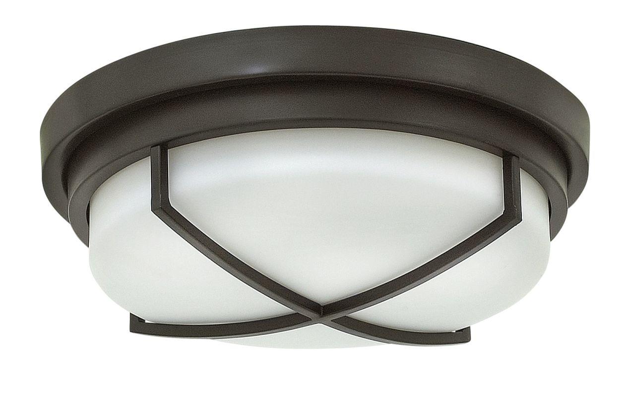 hinkley lighting 4381kz buckeye bronze 2 light flush mount