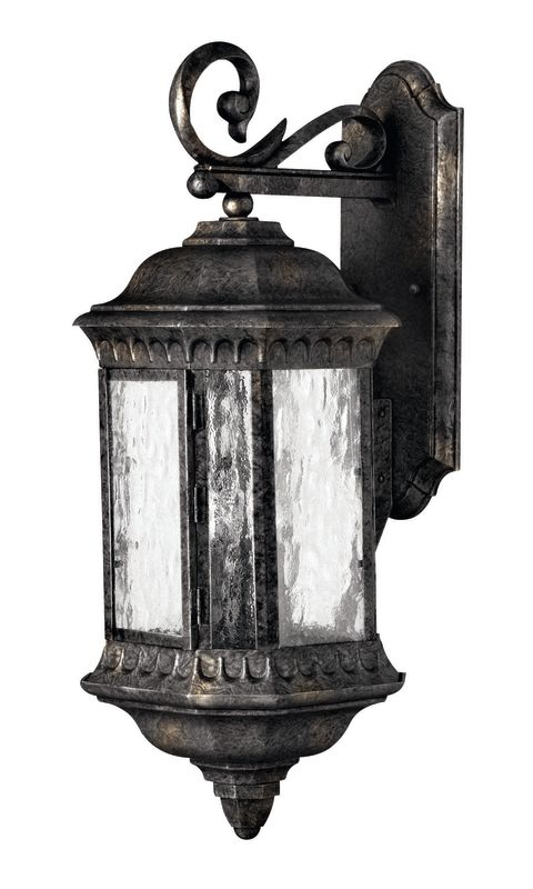 Exterior Wall Sconce Mounting Height : Hinkley Lighting 1725BG Black Granite 23.5
