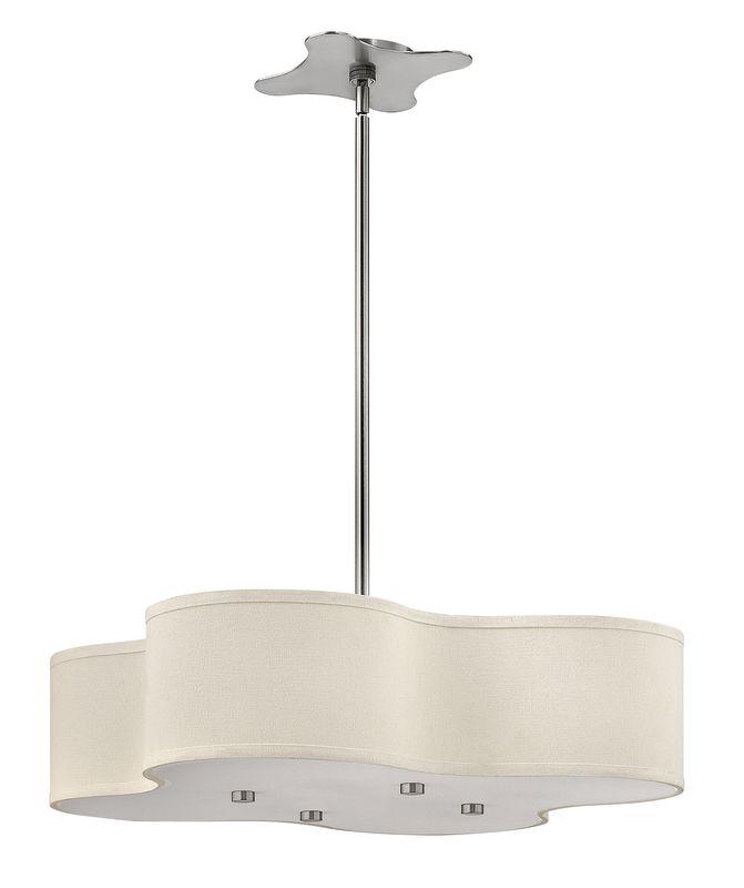 """Hinkley Drum Lighting: Hinkley Lighting 3805BN Brushed Nickel Cirrus 28"""" Width 4"""