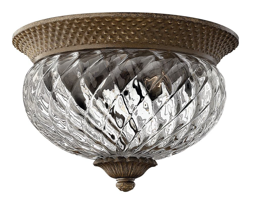 Decorative Star Ceiling Light Semi Flush Bathroom Fixture: Hinkley Lighting 4102PL Polished Antique Nickel 2 Light