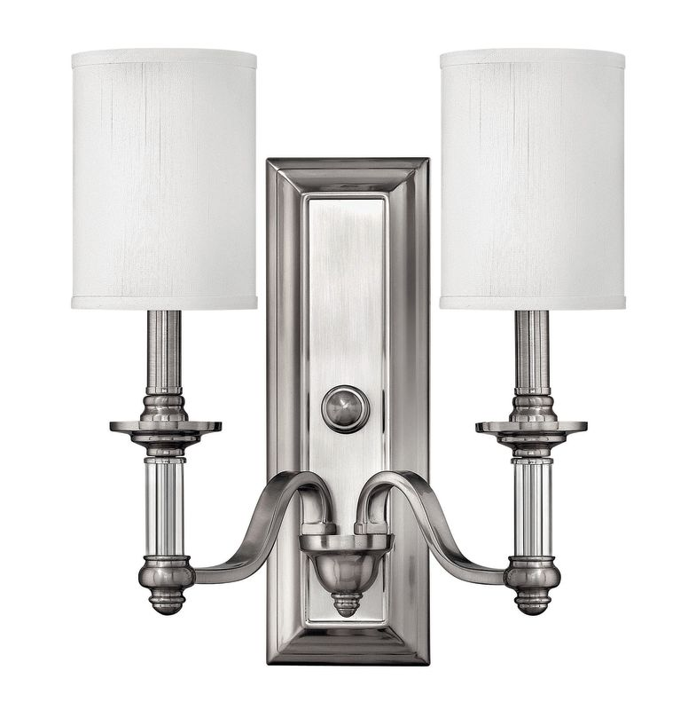Wall Sconce Height Code : Hinkley Lighting 4792BN Brushed Nickel 2 Light 15.75