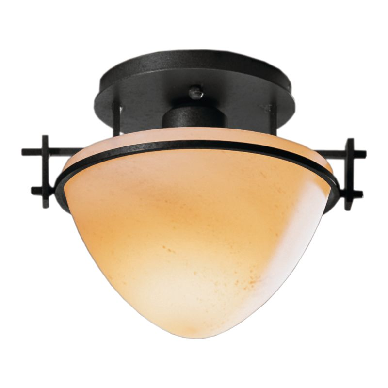 forge 124247 10 black 1 light bowl light semi flush ceiling fixture