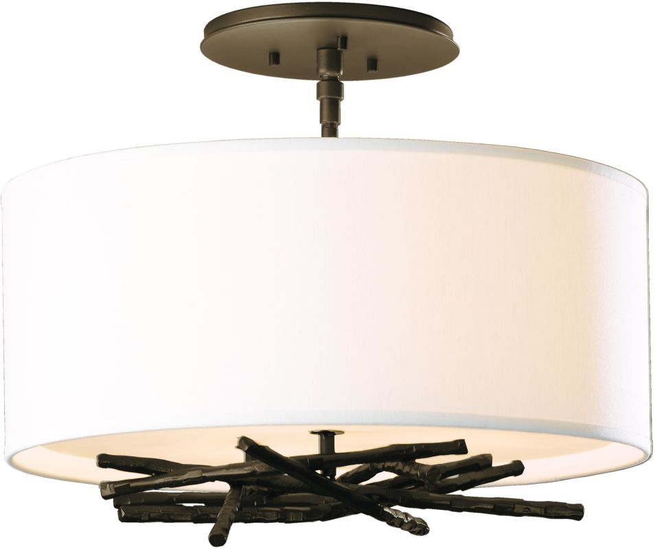 hubbardton forge 127660 05 bronze 3 light semi flush ceiling light