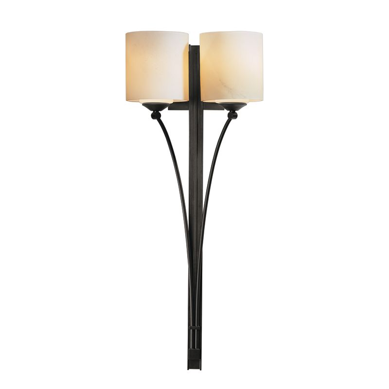 hubbardton forge 204672 10 black 2 light double wall torch from formae