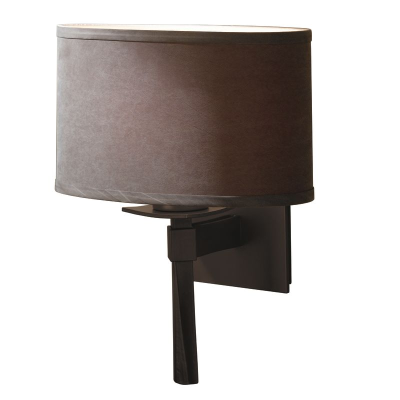hubbardton forge 204810 03 mahogany 1 light direct wire wall sconce
