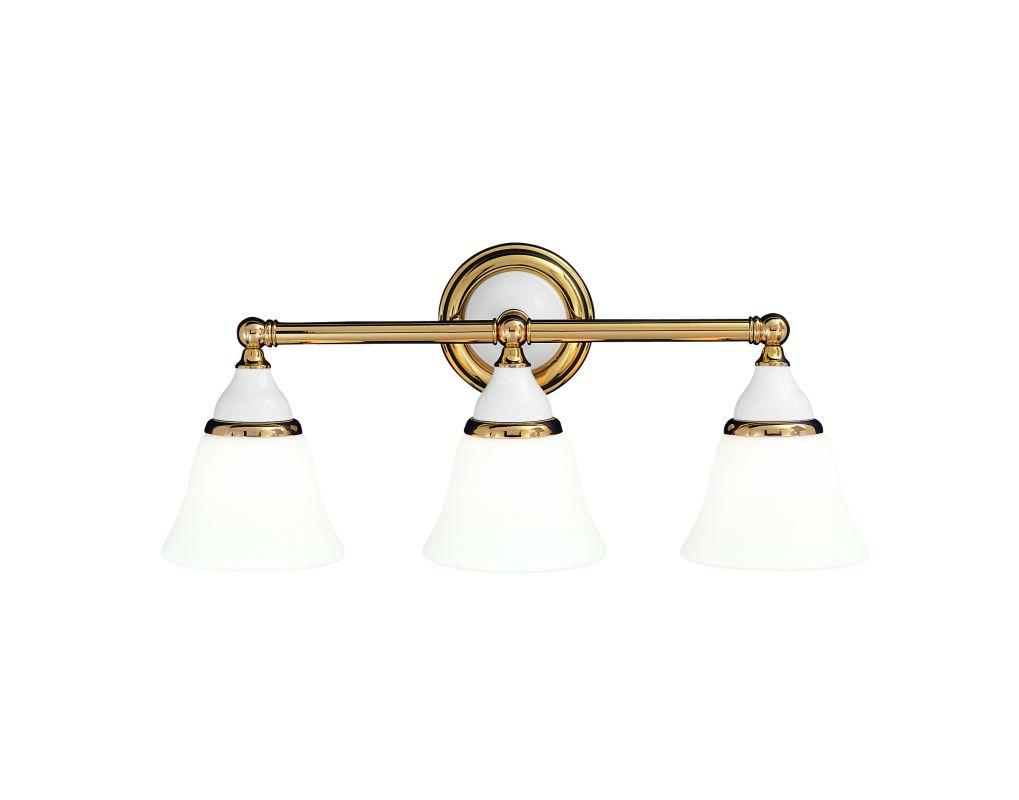 New 3 Light Bathroom Vanity Lighting Fixture Antique Brass: Hudson Valley Lighting 463-PB Polished Brass Three Light