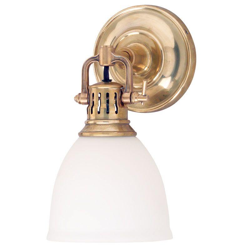 Where Is Hudson Valley Lighting Made: Hudson Valley Lighting 2201-AGB Aged Brass Single Light