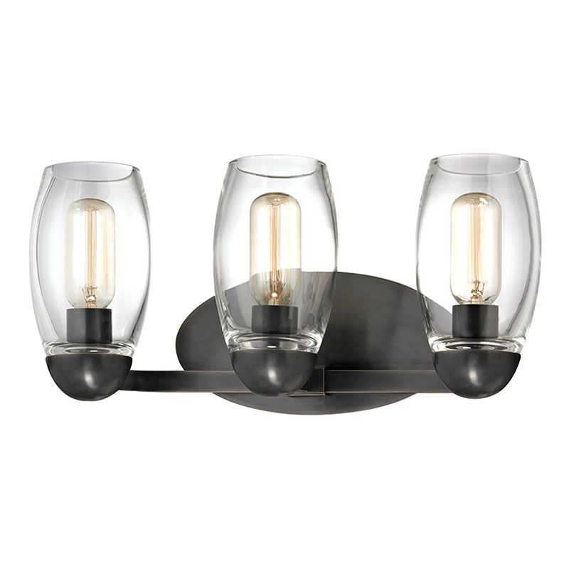 Blown Glass Vanity Light : Hudson Valley Lighting 8843-OB Old Bronze Pamelia 3 Light Bathroom Vanity Light with Mouth-Blown ...