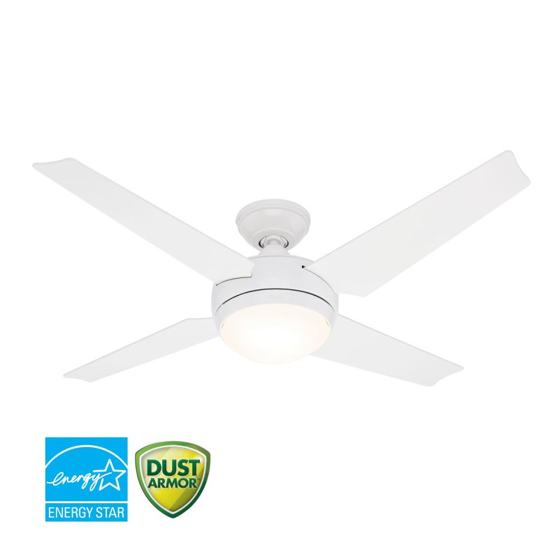 Hunter 59073 White 52 Quot Energy Star Rated Indoor Ceiling