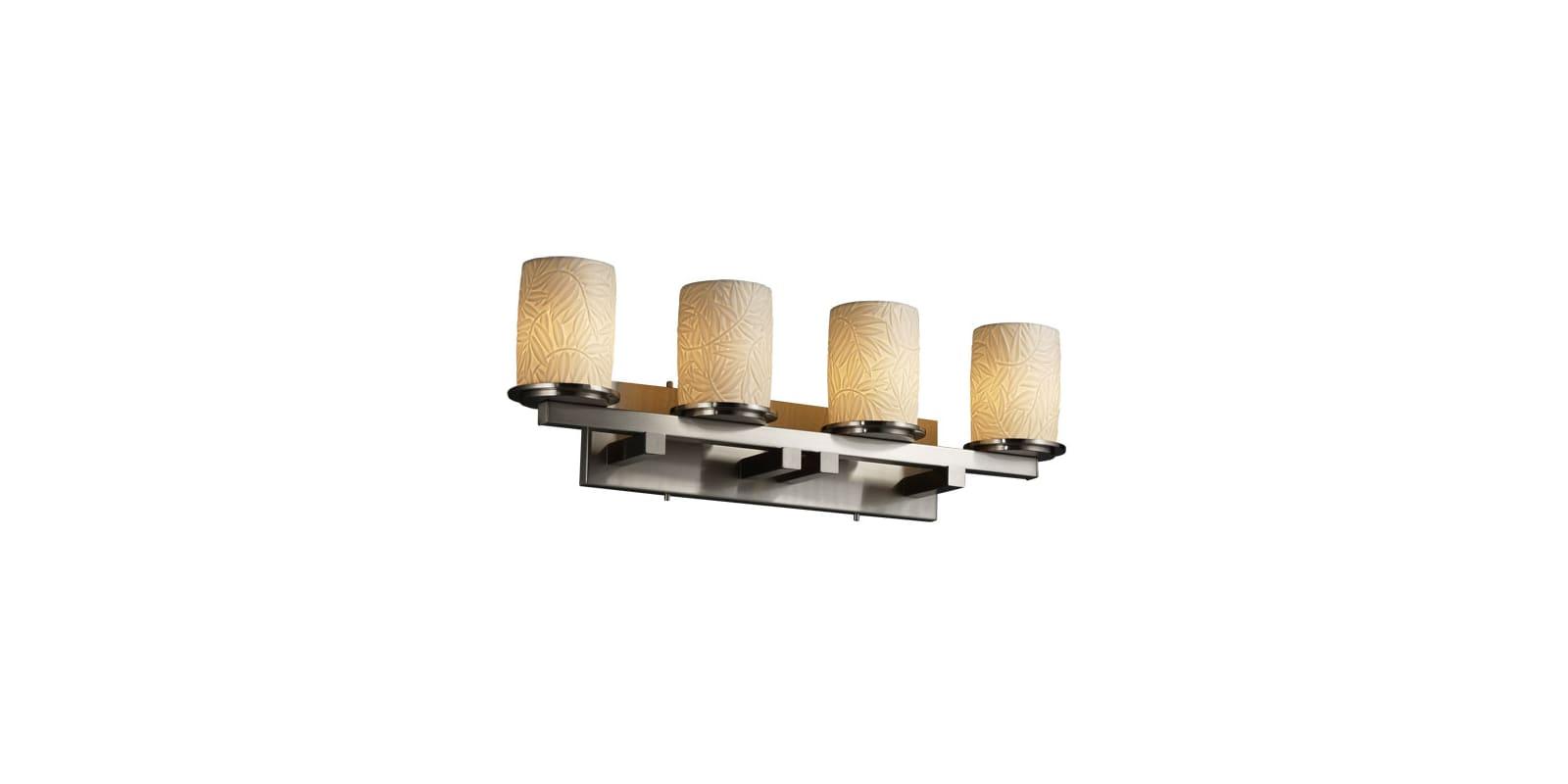 justice design group por 8774 10 bmbo nckl brushed nickel. Black Bedroom Furniture Sets. Home Design Ideas