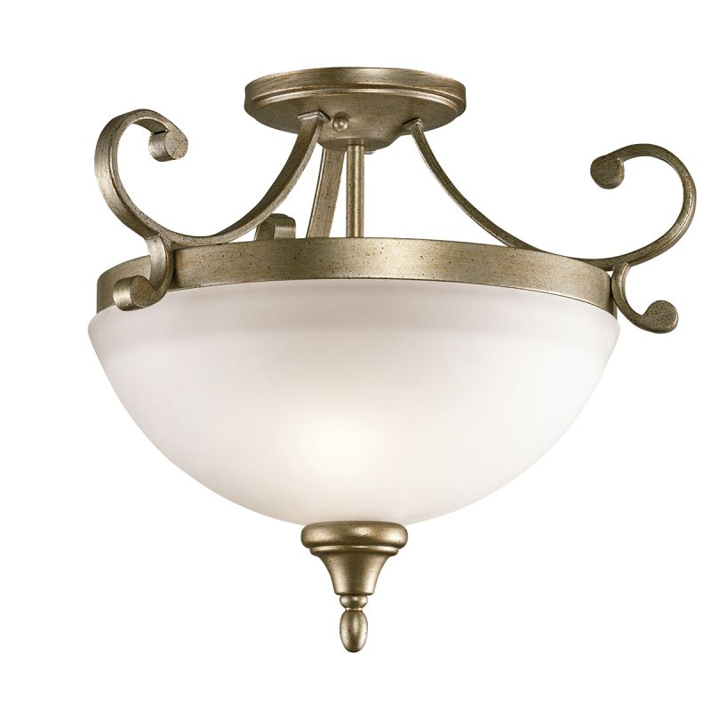 Kichler Lamps: Kichler 43169SGD Sterling Gold Monroe 2 Light Semi-Flush
