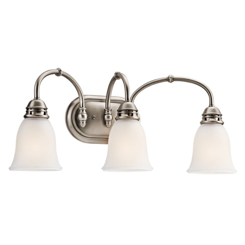 kichler 45066ap antique pewter durham 23 13 quot wide 3 bulb bathroom lighting fixture