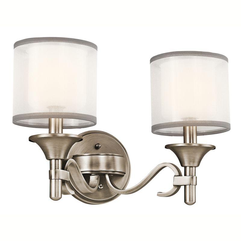 Kichler Ap Antique Pewter Lacey  Bulb Bathroom Lighting Fixture Lightingdirect Com
