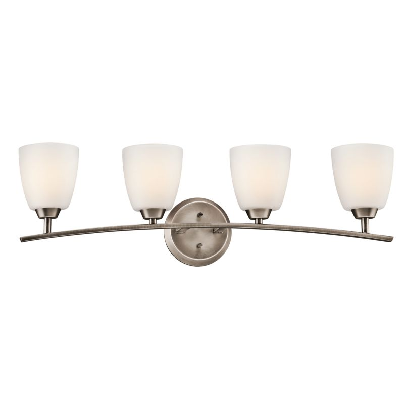 Kichler 45361BPT Brushed Pewter Granby Wide 4 Bulb Bathroom Light