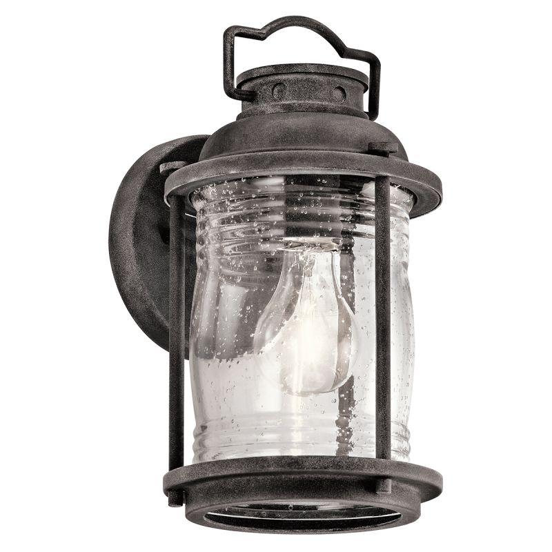 Kichler Ashland Bay Outdoor Pedestal Lantern Weathered: Kichler 49569WZC Weathered Zinc Ashland Bay Collection 11