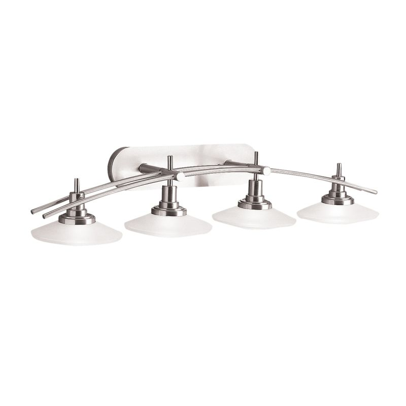 "Kichler 6162ni Structures 2 Light Bath Wall Mount In Brushed Nickel: Kichler 6464NI Brushed Nickel Structures 4 Light 40"" Wide Vanity Light Bathroom Fixture With"