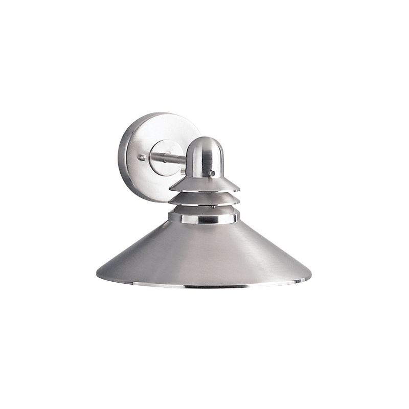 Replacing Outside Wall Lights : Kichler 9044NI Brushed Nickel Grenoble Collection 1 Light 8