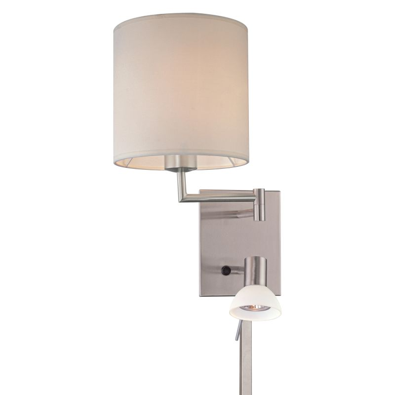 Height Of Wall Sconces In Living Room : Kovacs P1050-084 Brushed Nickel 1 Light 16