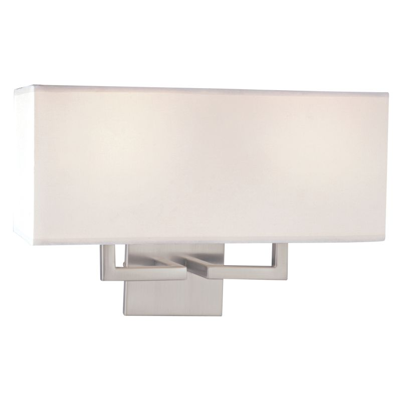 Single Light Wall Sconce With Crystals : Kovacs P472-084 Brushed Nickel 2 Light 11