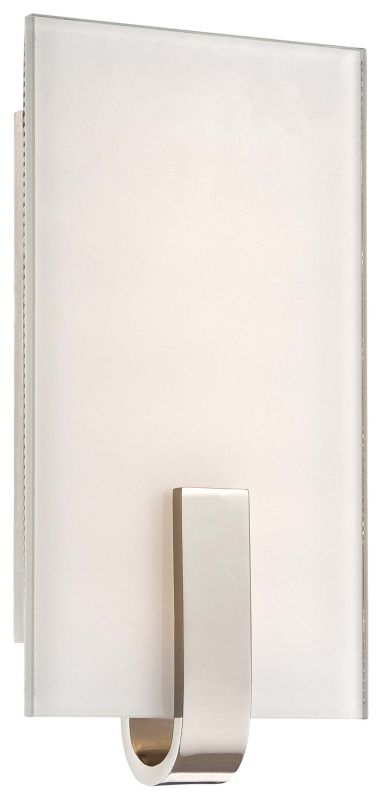 Wall Sconce Mounting Height Ada : Kovacs P1140-613-L Polished Nickel 1 Light 12