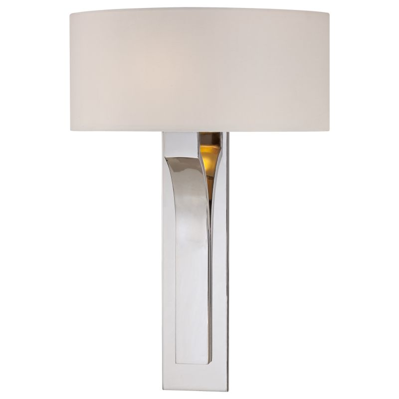 What Height Wall Sconces : Kovacs P1705-613 Polished Nickel 1 Light 16.75