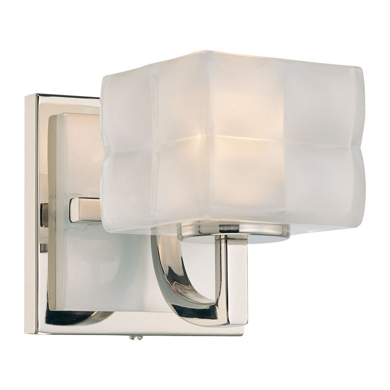 Kovacs Wall Sconces : Kovacs P5451-613 Polished Nickel 1 Light Wall Sconce from the Squared Collection ...