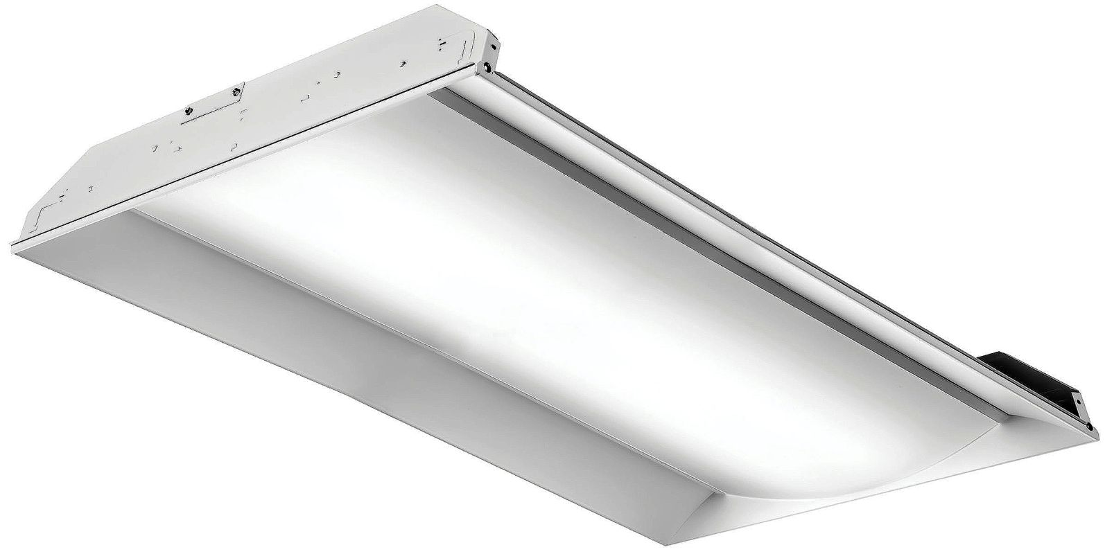 lithonia lighting 2fsl4 40l ez1 lp840 white 1 light 48 led ic rated. Black Bedroom Furniture Sets. Home Design Ideas