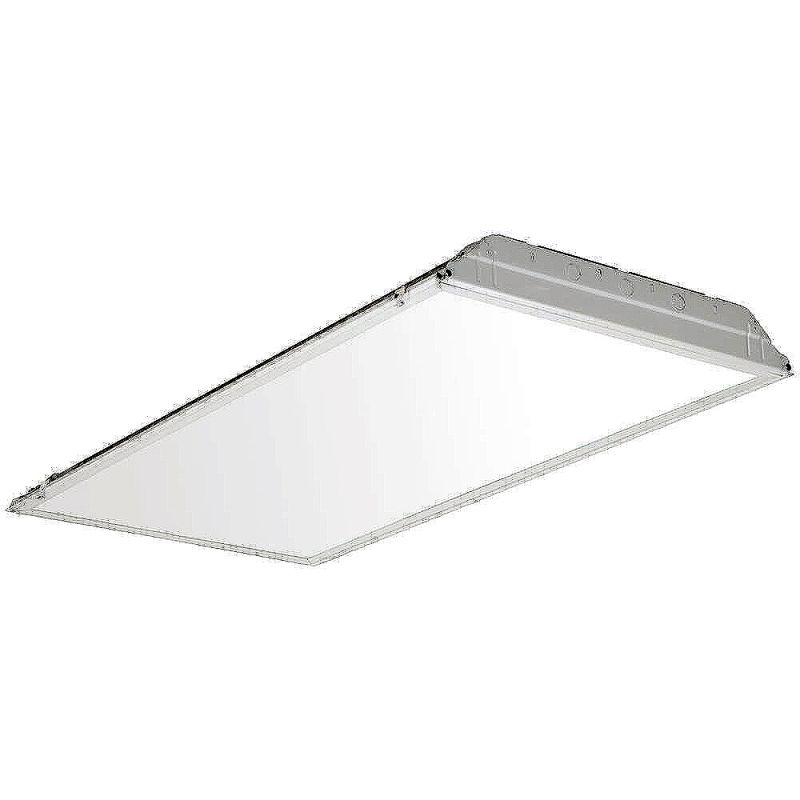 "1 X 2 Led Light Fixture: Lithonia Lighting 2GTL4 SWL White 1 Light 48"" LED Recessed"