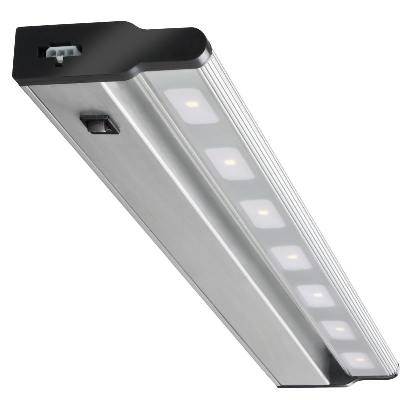 lithonia lighting ucld 24 bn m4 brushed nickel 24 led under cabinet. Black Bedroom Furniture Sets. Home Design Ideas