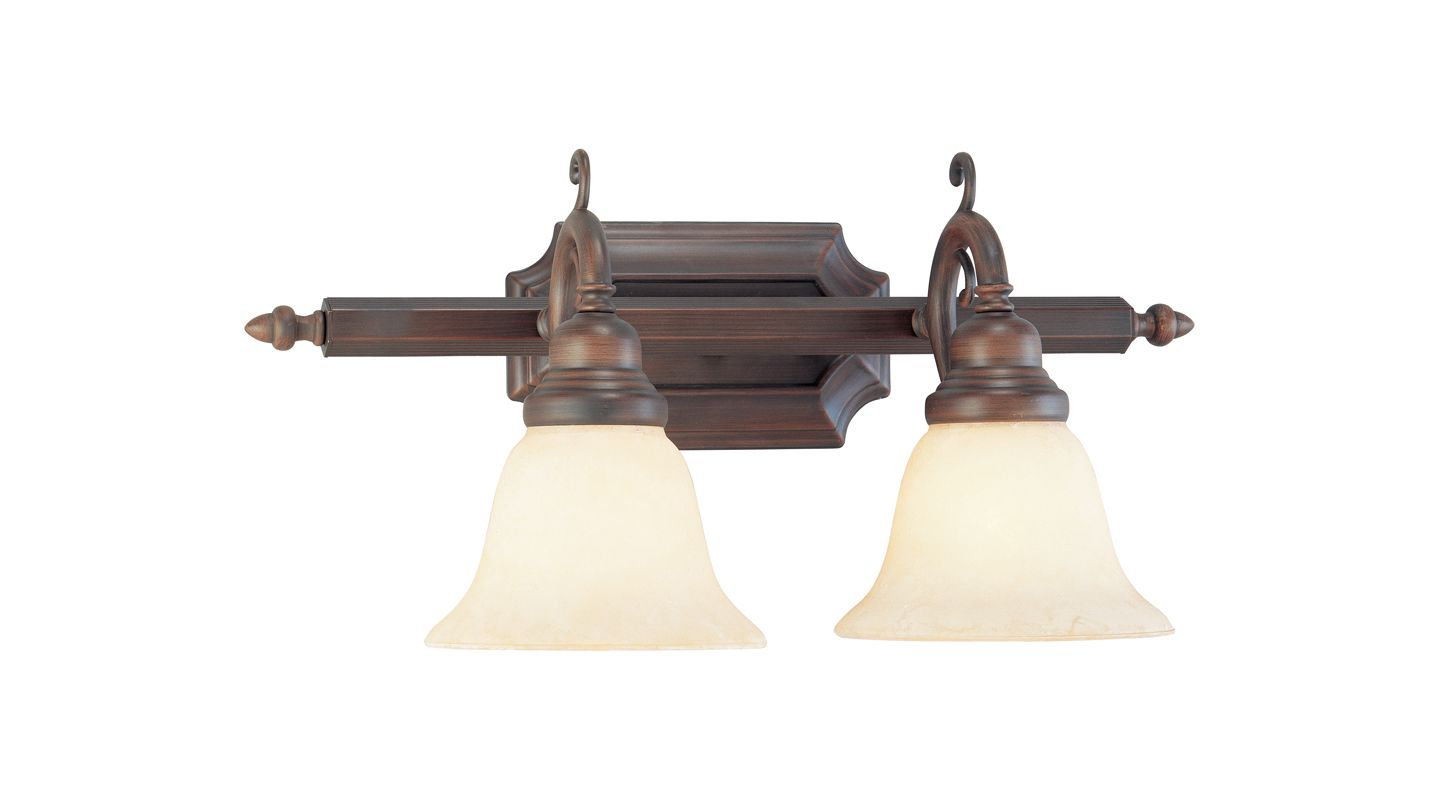 Livex Lighting 1192-58 Imperial Bronze French Regency 2 Light Bathroom Vanity Light ...
