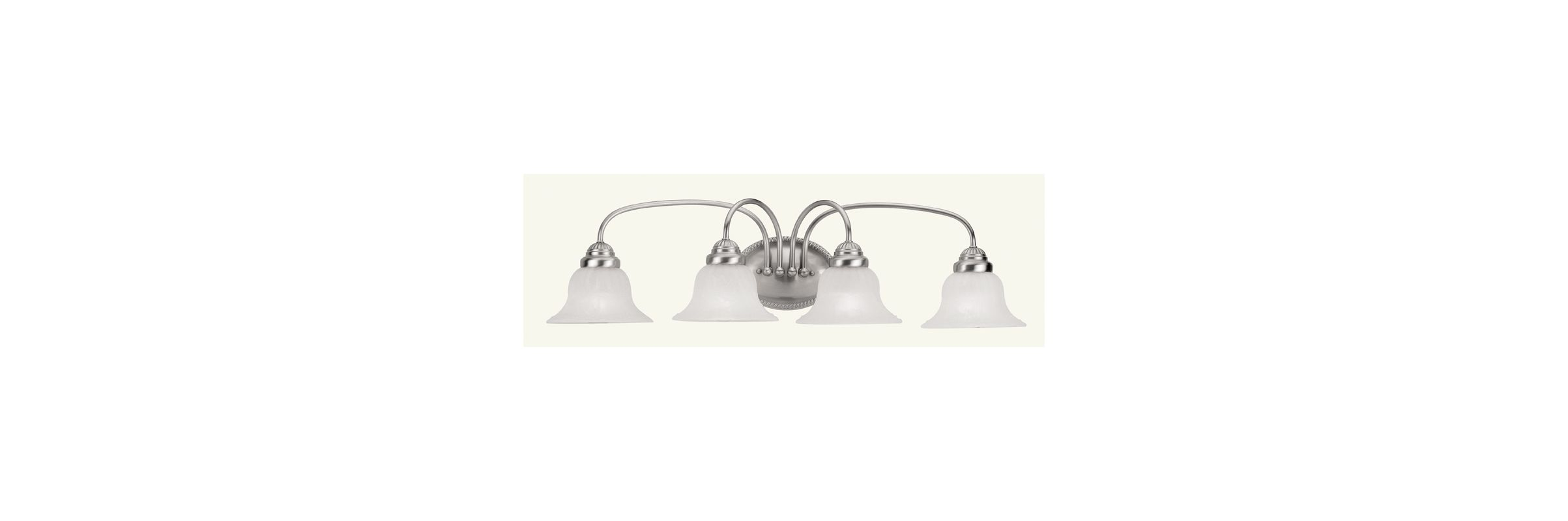 Livex Lighting 1534-91 Brushed Nickel Edgemont Bathroom Vanity Bar with 4 Lights ...