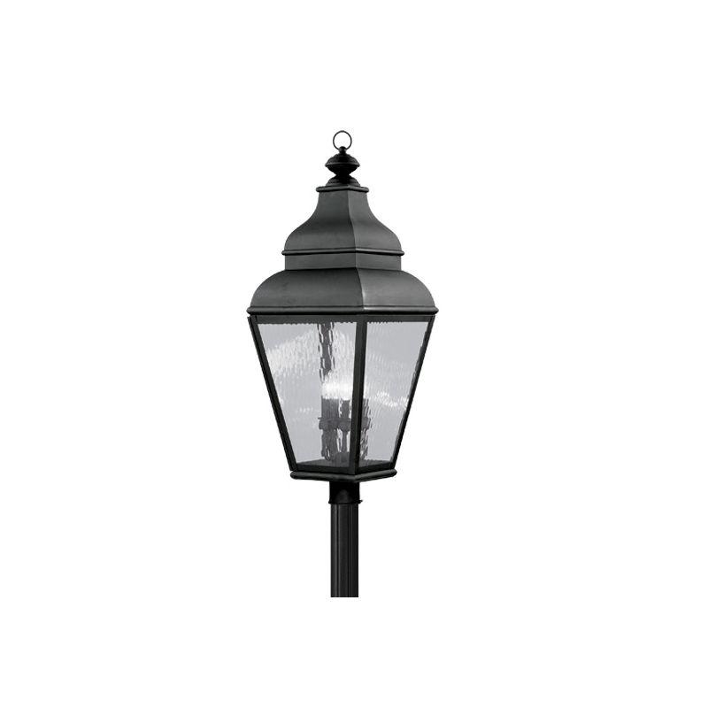 Livex Lighting 2608-04 Black Exeter Post Light With 4