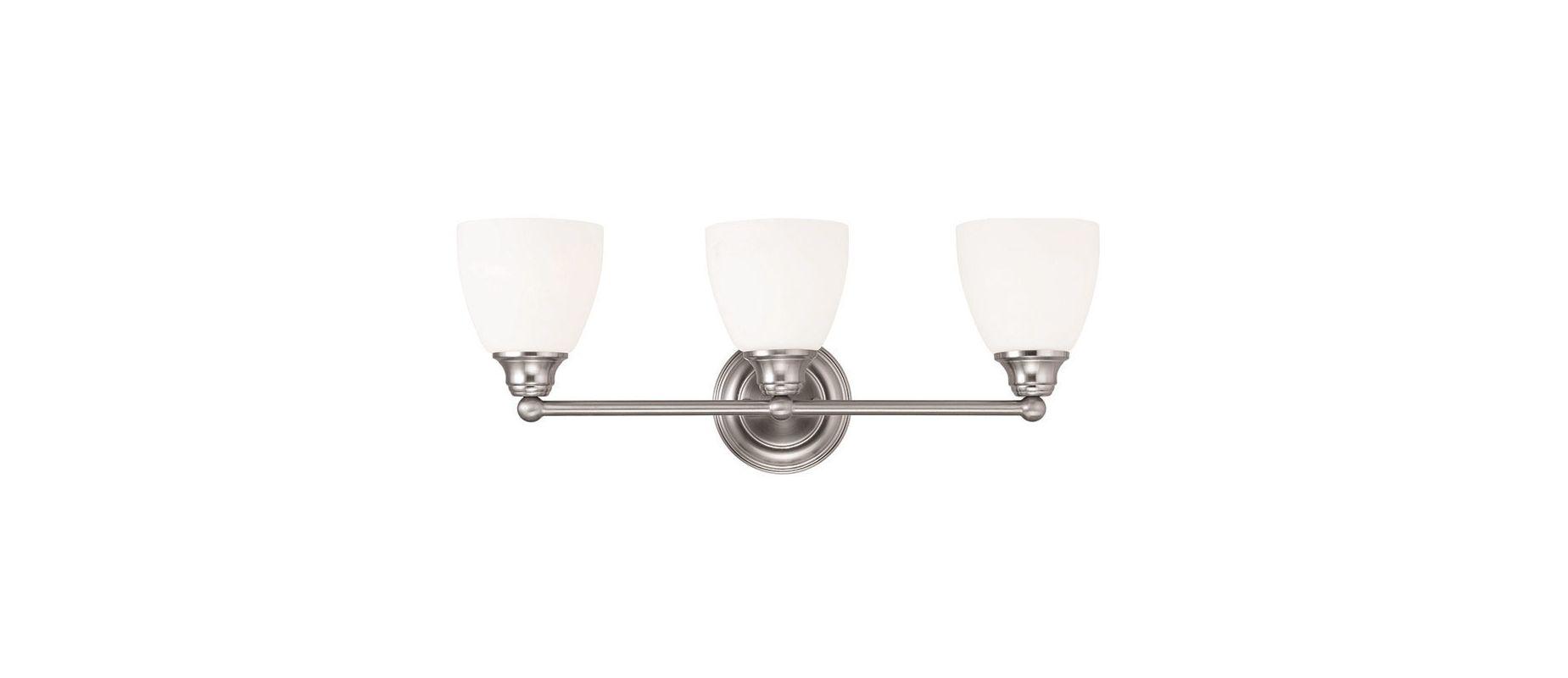 Livex Oldwick Modern Brushed Nickel 3 Light Bathroom: Livex Lighting 13663-91 Brushed Nickel Somerville 3 Light