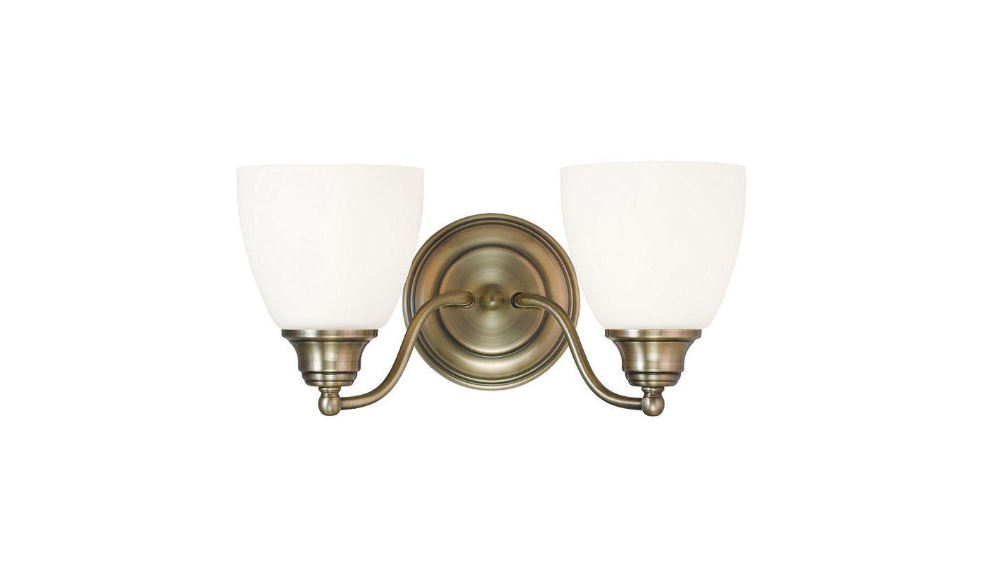 Livex Lighting 13672-01 Antique Brass Somerville 2 Light