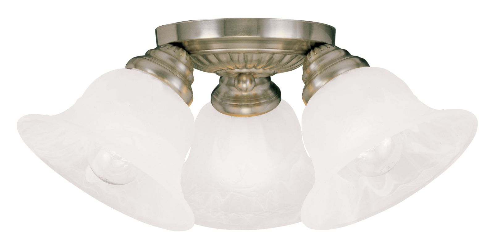 Semi Flush Ceiling Lights Glass Brass Fixture Bathroom: Livex Lighting 1529-01 Antique Brass Edgemont Semi-Flush