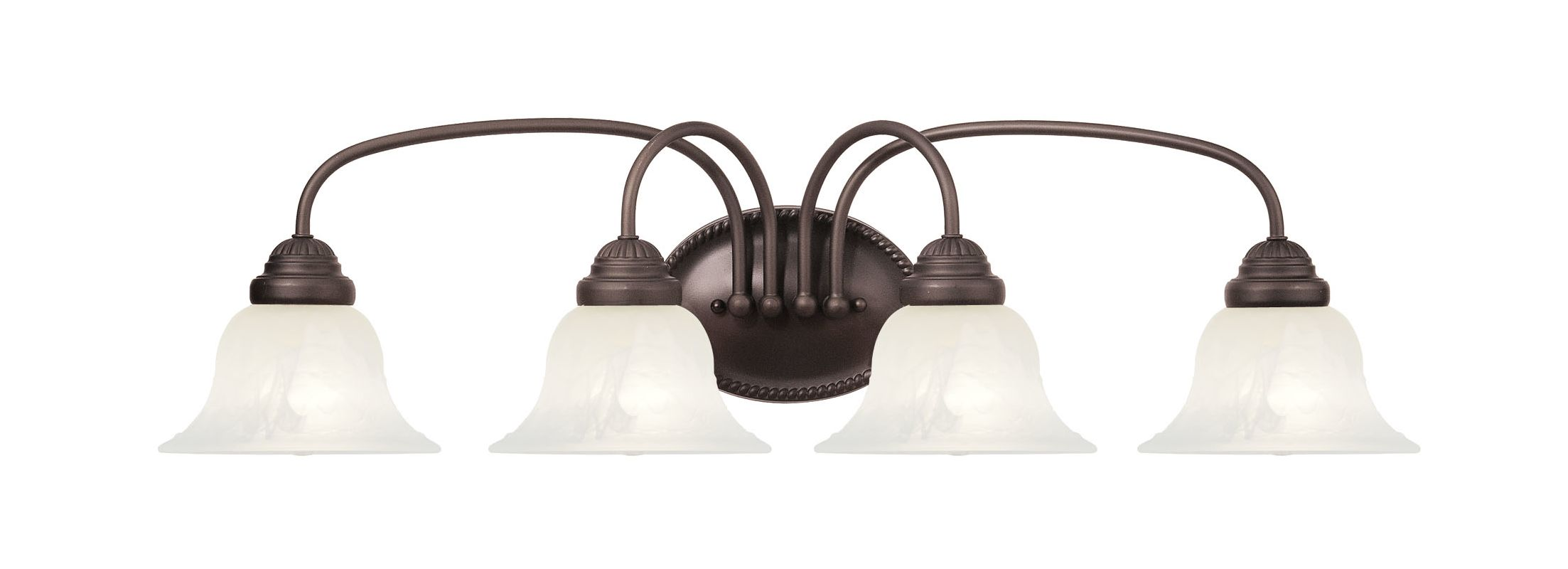 Livex Lighting 1534-07 Bronze Edgemont Bathroom Vanity Bar with 4 Lights - LightingDirect.com