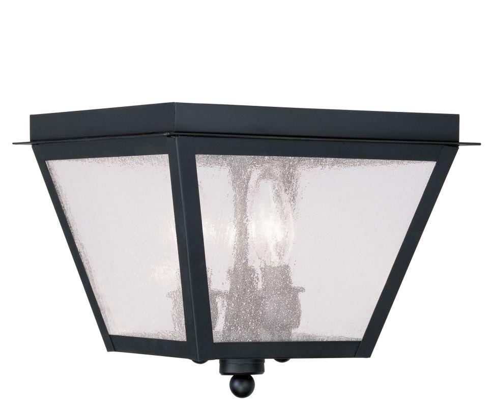 Livex Lighting 2549 04 Black Amwell Outdoor Flush Mount