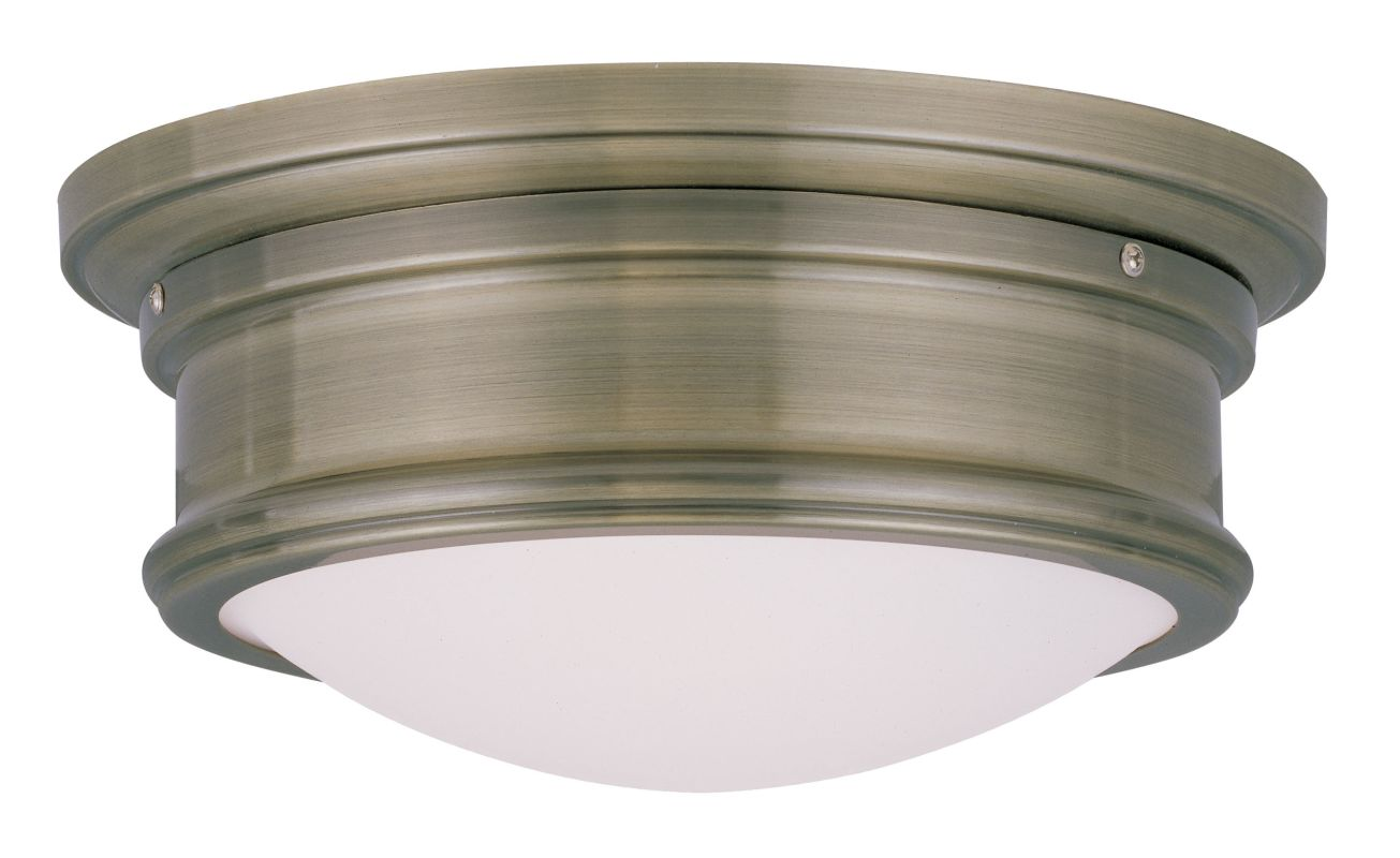Westmenlights Vintage Small Ceiling Light Flush Mount: Livex Lighting 7341-01 Antique Brass 4.5 Inch Tall Flush