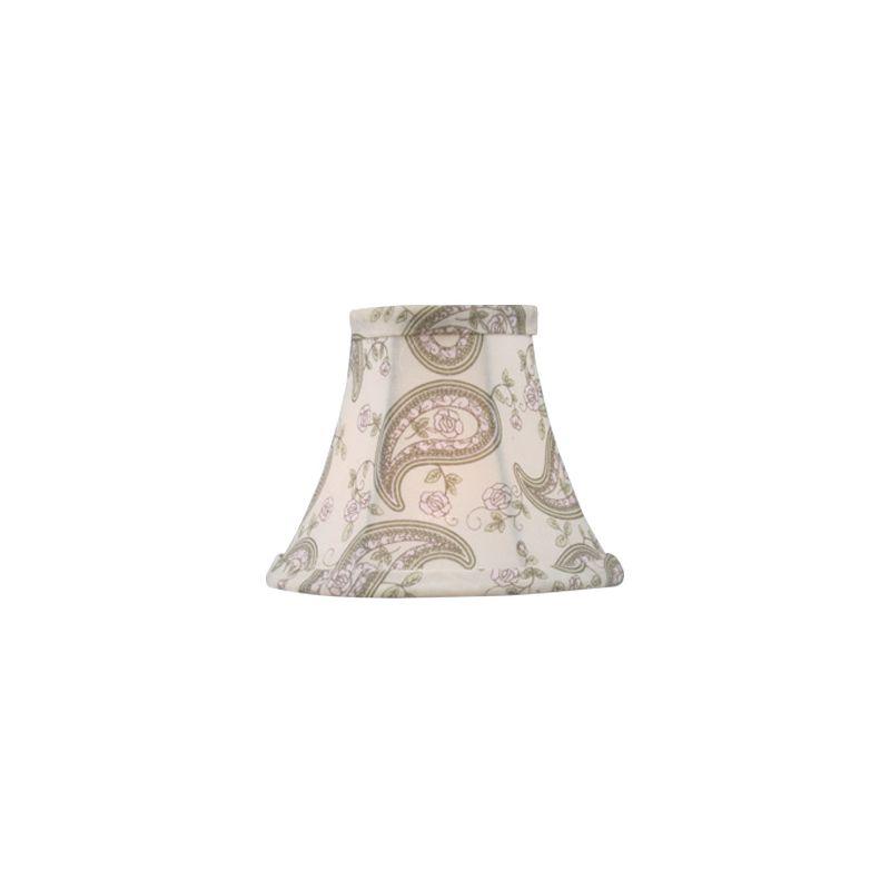 Livex Lighting S321 Paisley Design Silk Bell Clip Shade