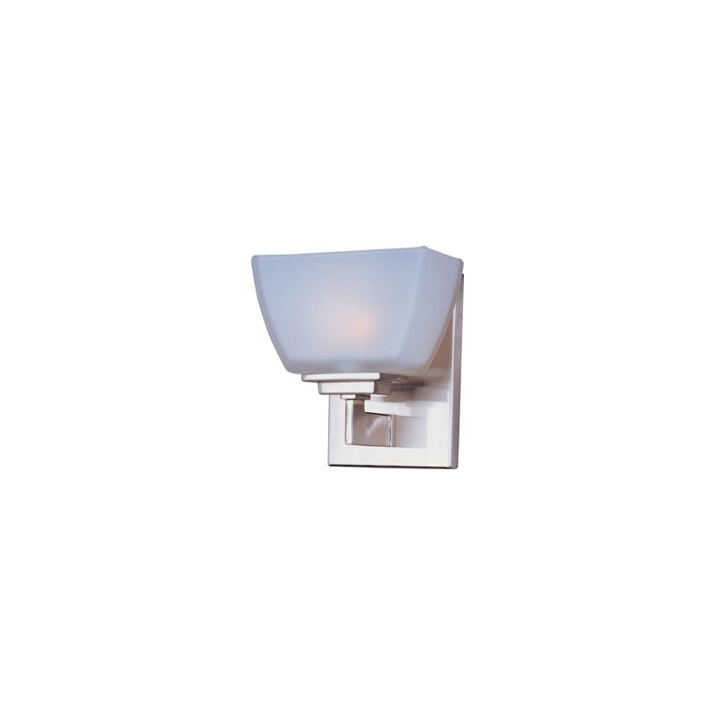 Can Vanity Lights Be Installed Upside Down : Maxim 9031SWSN Satin Nickel / Satin White 1 Light 5.75